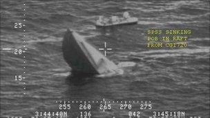 A sinking Colombian drugs sub