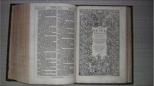Church discovers a first edition King James Bible - BBC News