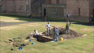 Archaeological dig at Bamburgh Castle