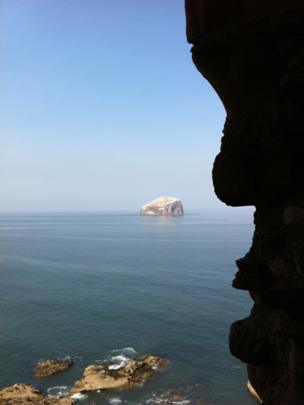 Bass Rock in the distance