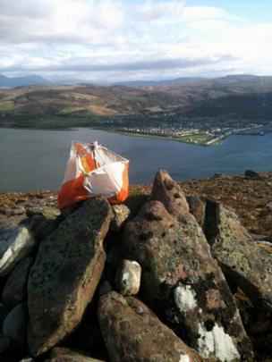 Rocks with Ullapool in the background