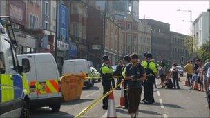 Police on Cheltenham Road