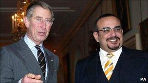 Prince Charles and Bahrain's Crown Prince, Salman bin Hamad Al-Khalifa