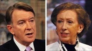 Former Business Secretary Peter Mandelson and former Foreign Secretary Margaret Beckett