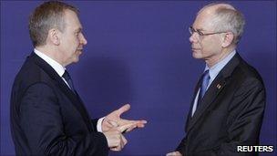 Yves Leterme and Herman Van Rompuy (24 March 2011)