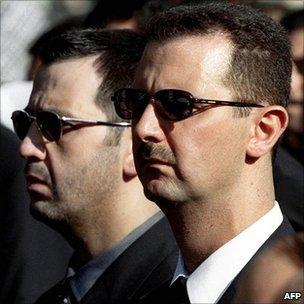 Maher al-Assad and Bashar al-Assad (2000)
