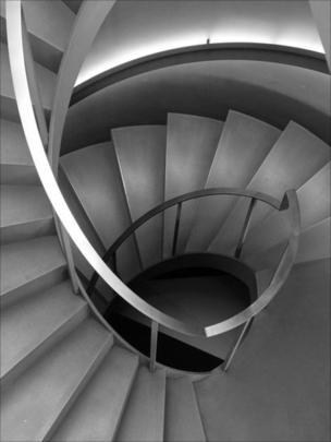 a concrete staircase