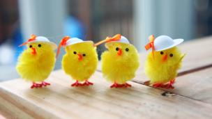 Easter chick table decorations