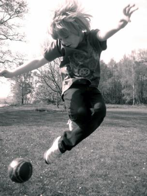 Ben playing football