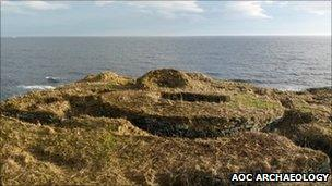 Nybster broch. Pic: AOC Archaeology