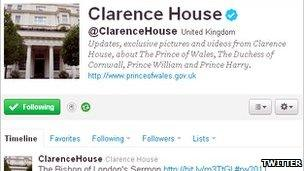 Clarence House official Twitter feed
