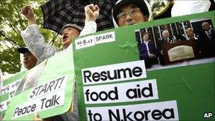South Koreans protest against US and South Korean policy towards North Korea, in Seoul - 26 April 2011