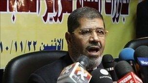 The Muslim Brotherhood's Mohammed al-Mursi (Nov 2010 picture)