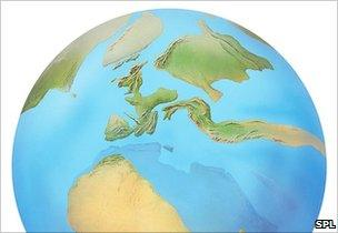 Europe in the Eocene (artist's reconstruction)