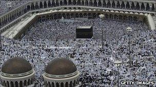 Pilgrims gathering in Mecca