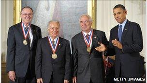Ted Hoff with President Barack Obama