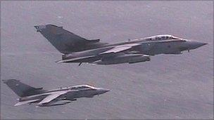 Two Tornados from RAF Marham