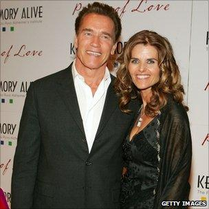 Arnold Schwarzenegger and Maria Shriver. File photo