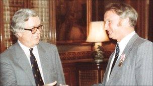 Geoffrey Howe and Peter Smithson
