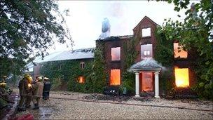 Shropshire Fire and Rescue tackle the Osbaston House fire