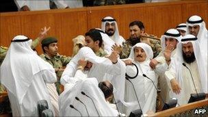 Fight between Kuwaiti MPs