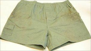 Shorts from Cooper's bedroom
