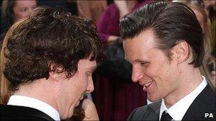 Benedict Cumberbatch and Matt Smith meet on the red carpet