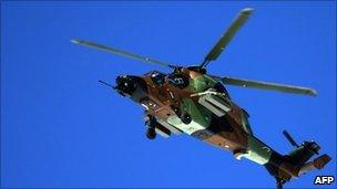 French Tigre helicopter. File photo