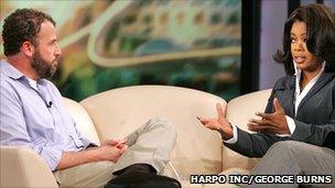 James Frey with Oprah Winfrey