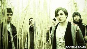 Portrait of Nottingham band Swimming