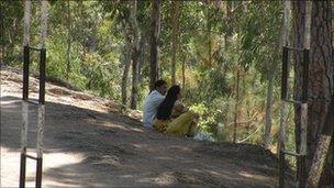 Couple in abbottabad hills