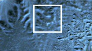 satellite image of pyramid