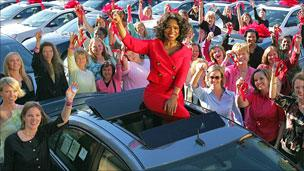 Oprah Winfrey Moments That Made Her BBC News - Ellen degeneres show car giveaway