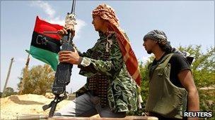 Rebel fighters near Misrata, Libya (24 May 2011)