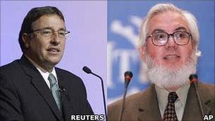 Achim Steiner (L) and Juan Somavia (R)