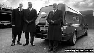 Men with hearse