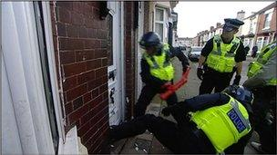 Police raid in Middlesbrough