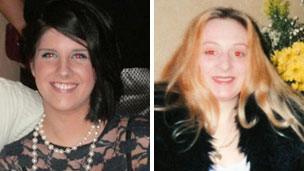 Sian O'Callaghan (left) and Becky Godden-Edwards