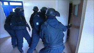 Police raids in Herefordshire