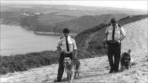 Police carrying out searches after the Pembrokeshire murders