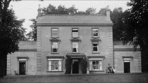 Scoveston Park before it was set on fire after Richard and Helen Thomas were killed