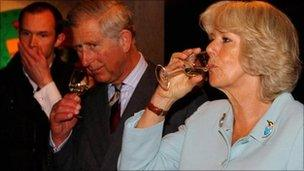 Prince of Wales and Duchess of Cornwall at Denbies