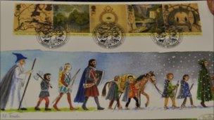 Jennifer Toombs' Lord of the Rings first day cover design