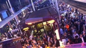 Passengers at Kentish Town. Pic: Nancy Mandizha