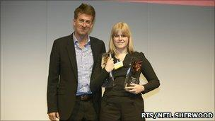 Charlotte Blacker with Director of BBC North, Peter Salmon.