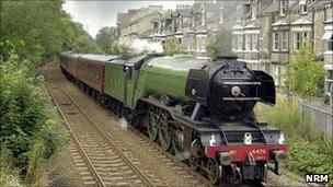 The Flying Scotsman in York. Copyright: NRM