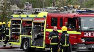 London firefighters attending an incident