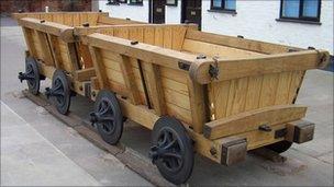 Replica wagon from Cheltenham tram road
