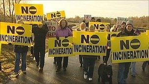 Rainworth protest