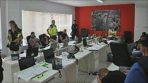 Spanish police still of alleged scam phone room